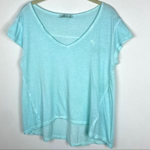 Abercrombie Fitch Teal Blue Short Sleeve Tee Modal